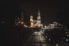 Notte a Dresda, Germania Immagine Stock Libera da Diritti