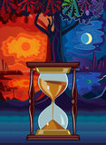 Notte e giorno Immagini Stock