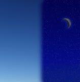 Notte e giorno fotografia stock