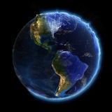 Notte e giorno reali della terra Immagine Stock Libera da Diritti