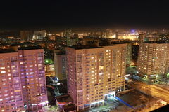 Notte Ekaterinburg Immagini Stock