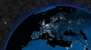 Notte in Europa Fotografia Stock Libera da Diritti