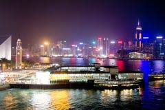 notte a Hong Kong Fotografia Stock