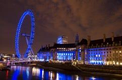 Notte I di Londra Immagine Stock