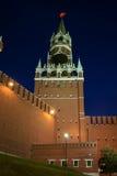 Notte, il Kremlin, Russia Fotografie Stock