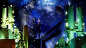 Notte industriale Immagine Stock Libera da Diritti