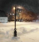notte Inverno indice Fotografia Stock