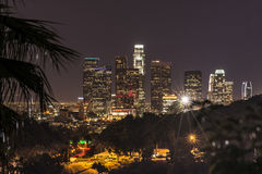 Notte Los Angeles, California Immagini Stock Libere da Diritti
