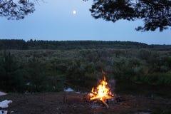 Notte, luna, festa, turismo Immagini Stock