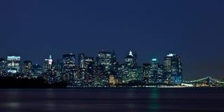 Notte Manhattan Fotografia Stock Libera da Diritti