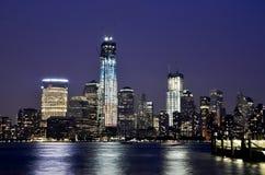 Notte Manhattan Fotografie Stock