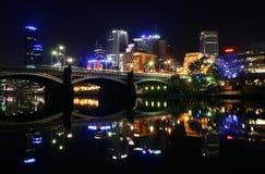 Notte Melbourne Fotografia Stock Libera da Diritti