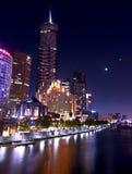 Notte a Melbourne fotografie stock libere da diritti