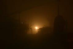 Notte nebbiosa Fotografia Stock