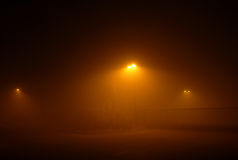 Notte nebbiosa Fotografie Stock