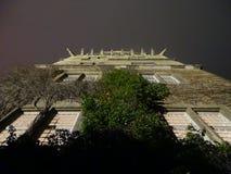 Notte nel castello di Wolfsburg immagini stock libere da diritti