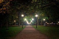Notte nel parco di Kadriorg Fotografia Stock