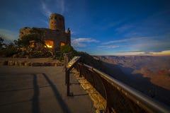 Notte nel parco nazionale di Grand Canyon fotografia stock