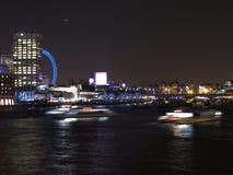 Notte nel Tamigi, Londra fotografie stock