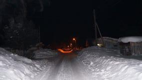 Notte nel villaggio Fotografia Stock Libera da Diritti