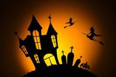 Notte nella celebrazione di Halloween fotografie stock libere da diritti