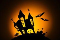 Notte nella celebrazione di Halloween immagini stock