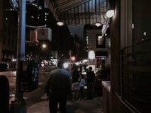 Notte nella città Immagini Stock
