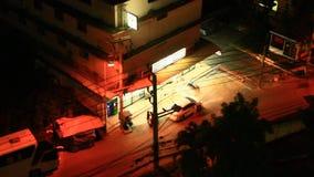 Notte nella città di Pattaya, Tailandia video d archivio