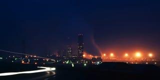 Notte nella zona industriale Fotografia Stock Libera da Diritti