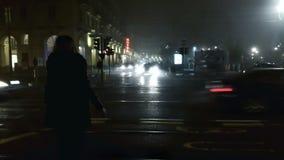Notte nelle vie della città Fotografia Stock