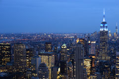Notte in New York Immagine Stock