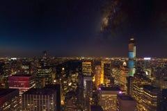 Notte NYC Immagine Stock Libera da Diritti