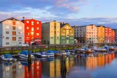 Notte Oslo Fotografia Stock