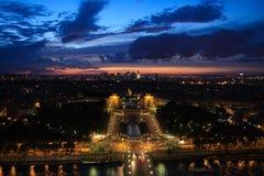 Notte Parigi Fotografia Stock Libera da Diritti