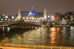 Notte Parigi Fotografia Stock