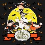 Notte Patry di Halloween Goest Fotografia Stock