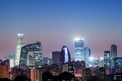 Notte a Pechino Immagini Stock Libere da Diritti