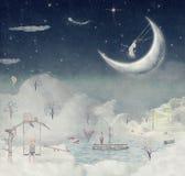 Notte. Periodo dei miracoli e della magia illustrazione vettoriale