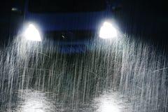Notte piovosa fotografie stock libere da diritti
