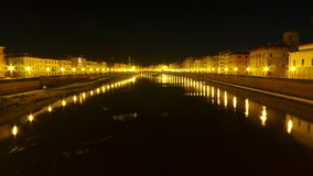 Notte a Pisa Fotografia Stock