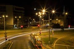 Notte Plzen Immagini Stock Libere da Diritti