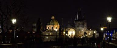 Notte Prag - nocni Praga Fotografie Stock Libere da Diritti