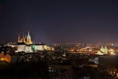Notte Praga Immagini Stock
