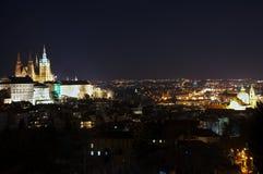 Notte Praga Fotografia Stock