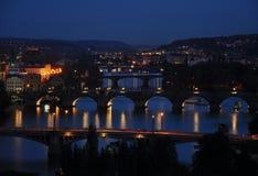 Notte Praga Fotografie Stock