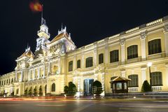 Notte reale del palazzo di architettura, Fotografie Stock Libere da Diritti