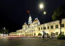 Notte reale del palazzo di architettura, Immagine Stock Libera da Diritti