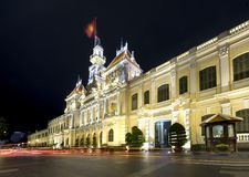 Notte reale del palazzo di architettura, Immagini Stock Libere da Diritti