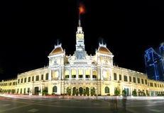 Notte reale del palazzo di architettura Immagine Stock Libera da Diritti