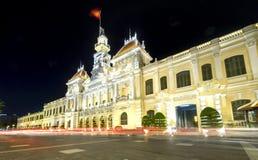 Notte reale del palazzo di architettura Fotografie Stock Libere da Diritti
